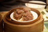 Steamed beef ball with bean curd skin